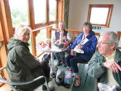 Hungry iwitters having lunch at Lackford Lakes meet!