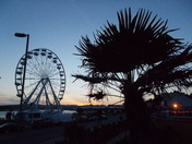 Exmouth Wheel at dusk