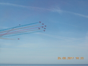 Red Arrows fly over Sidmouth