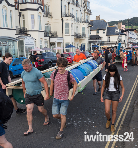Sidmouth Regatta Raft Race held on Saturday 26 August 2017