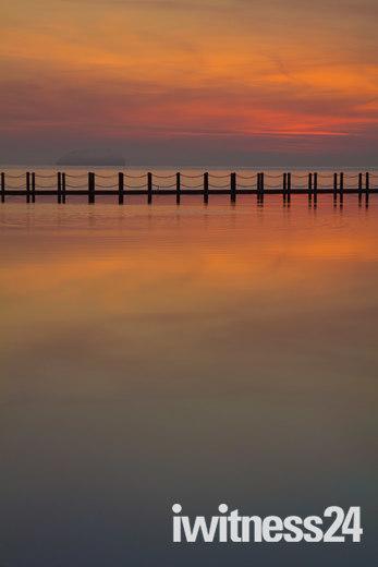 sunset on marine lake