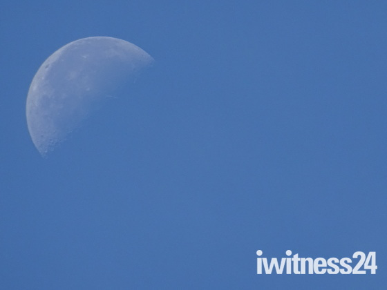 The moon phase seen this morning, 13th September.