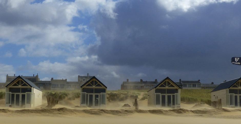 hoog opstuivend zand
