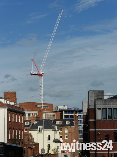Tower crane reaching for the sky in Norwich