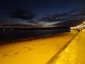 An after dusk shot of Exmouth beach