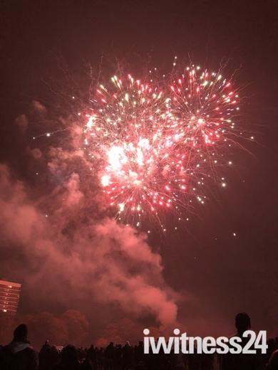 Fireworks display over Harrowlodge Park