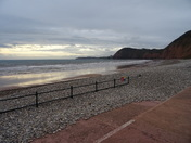 Sidmouth on a cloudy Monday 20th November 2017