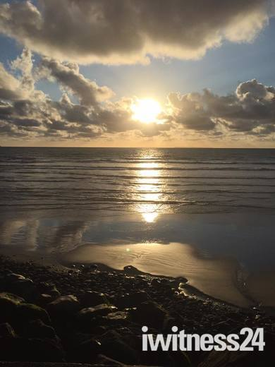 Sundown at  Westward Ho!