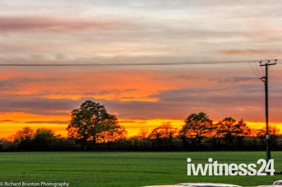 Rural Sun set