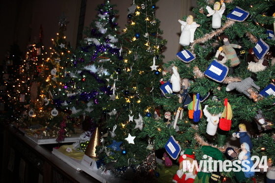 christmas trees in stowmarket church