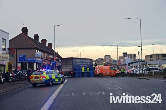 Fatal accident on London Road. Romford