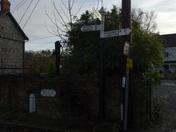 A finger-post sign in Langford