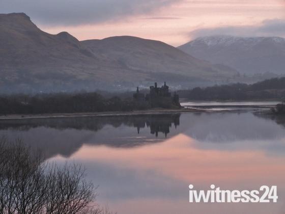 Sunrise at Loch Awe, Scotland