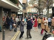 Dancing on London Street!