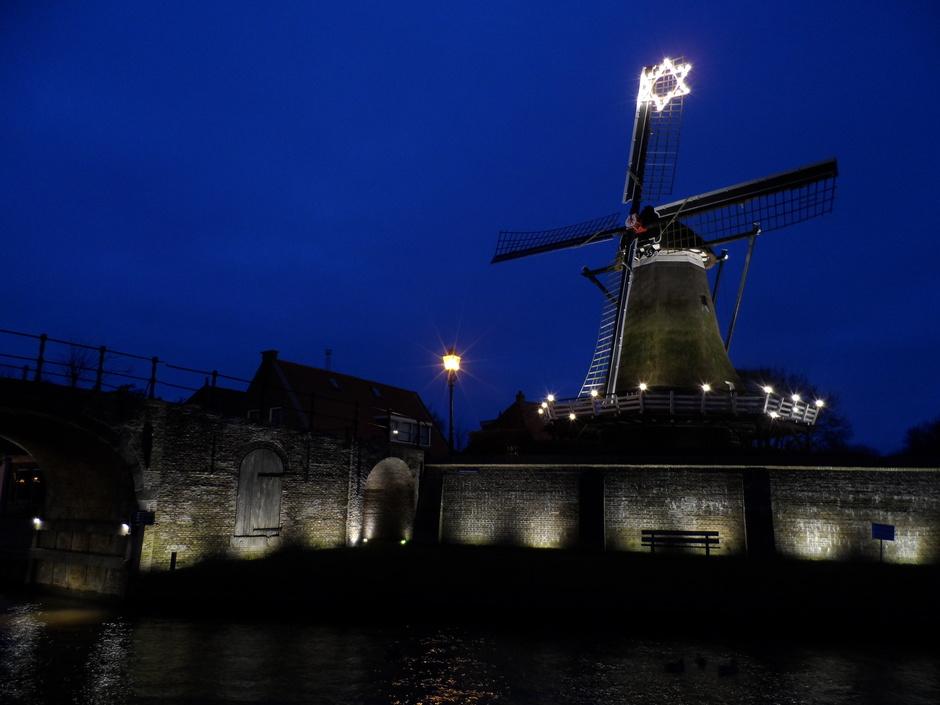 Sloten in kerstsfeer Friesland