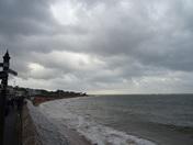 A windy Christmas Day on the beach