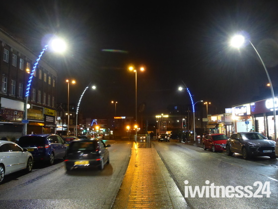 Night Scene in Gants Hill Ilford London