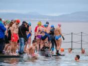 Clevedon Marine Lake New Years Day Swim