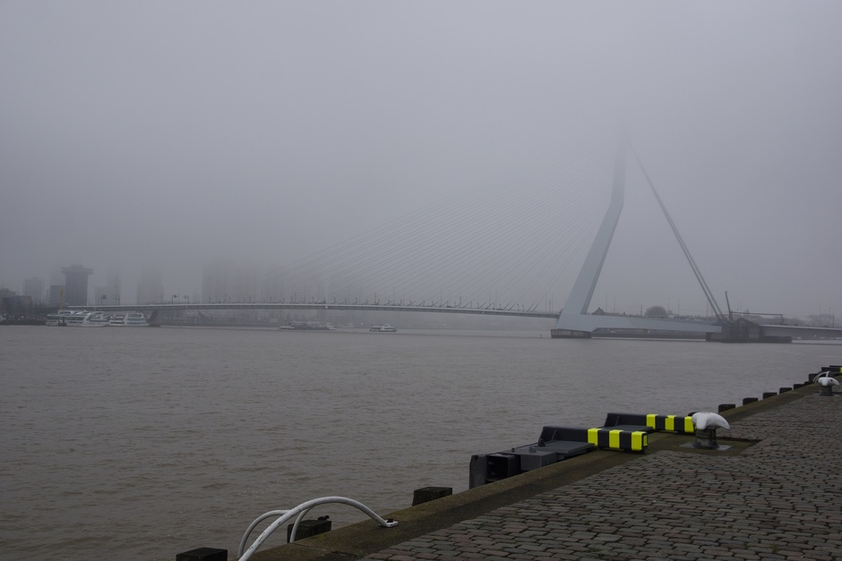 flink wat nevel in Rotterdam