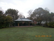 A frosty morning in the Manor Gardens bandstand.
