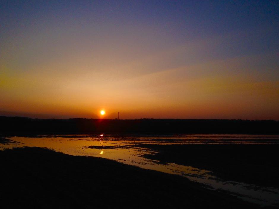 Eindelijk weer een zonsopkomst