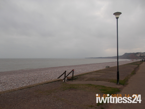 Budleigh on a cloudy winter's afternoon.