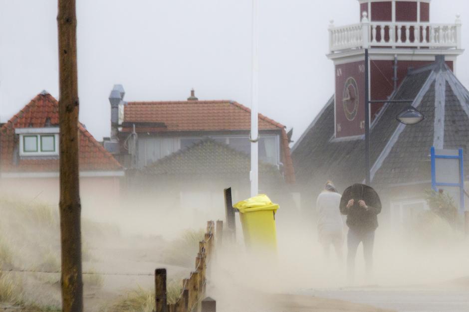Westerstorm in Noordwijk aan Zee