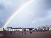 Rainbow on Exmouth Sea Front