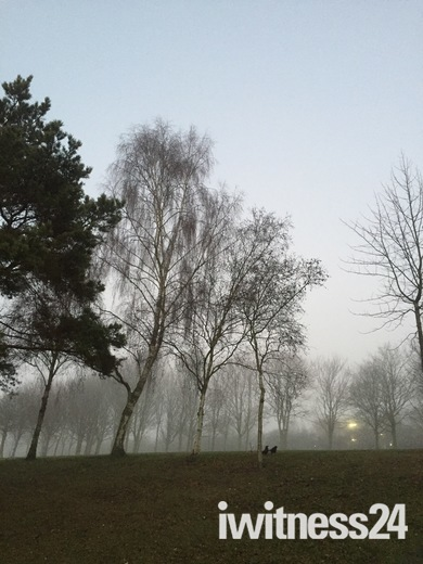 A foggy & a hazy sunshine day