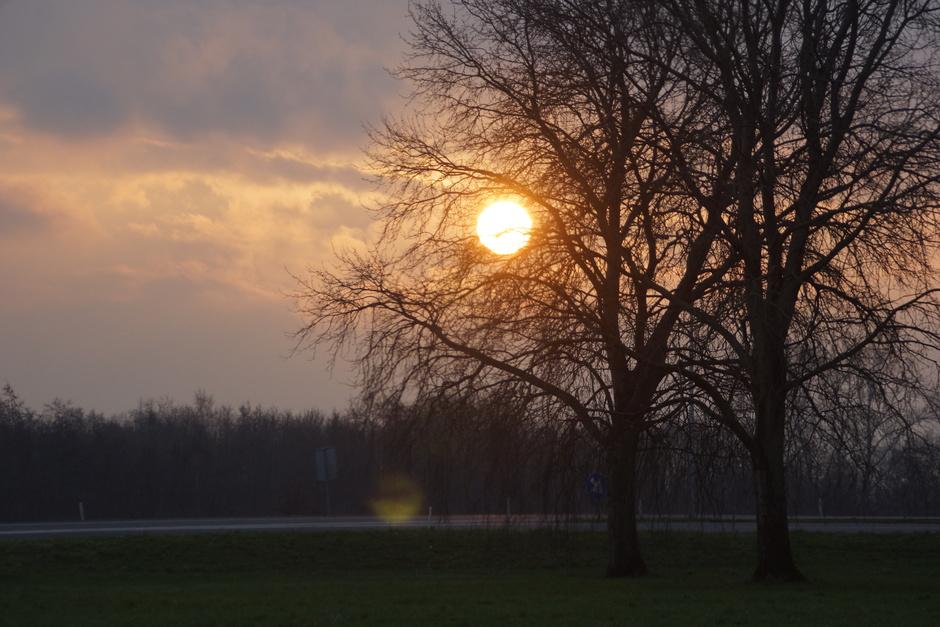 De zon die opkwam vanmorgen