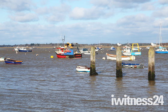 Sunday Morning at Felixstowe Ferry