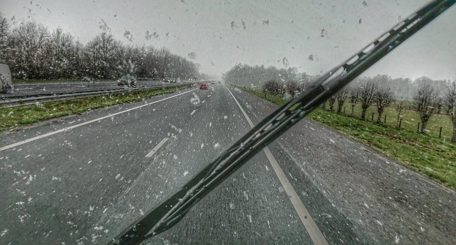 Sneeuwbuien onderweg