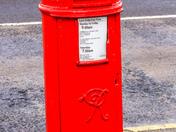 Something red - Post Box