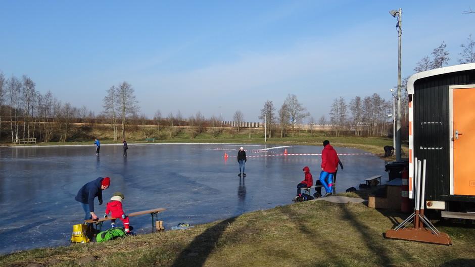 Een zonnige koude winterdag vandaag
