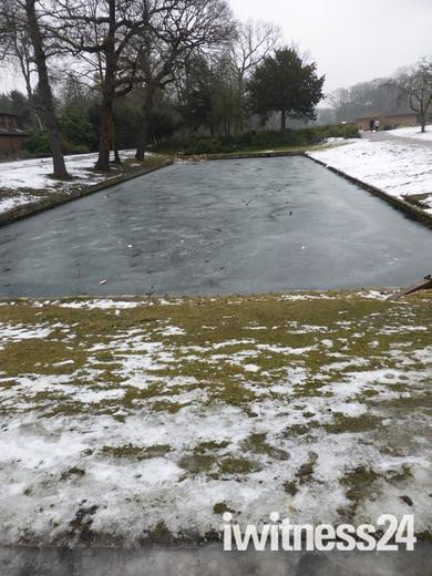 Snow in Valentine park