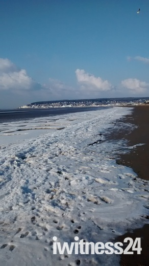 Snow On The Beach!