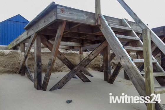 Storm damage at Felixstowe