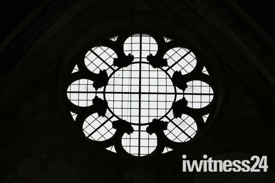 SILHOUETTE. Window At Binham Priory Church