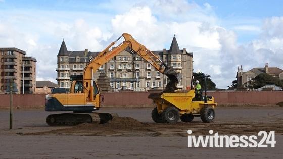 Making giant sand castles