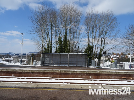 Honiton Railway Station after the snow - 19th March 2018