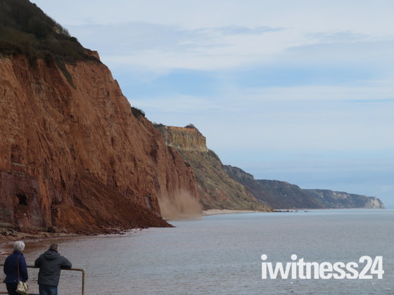 Fresh cliff fall at East Cliff, Sidmouth