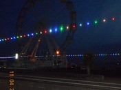 Exmouth Wheel after dusk