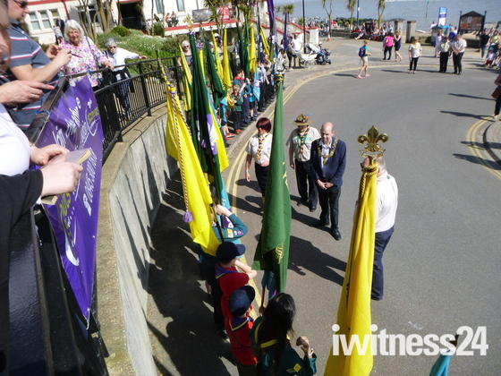 Scouting groups parade in Felixstowe