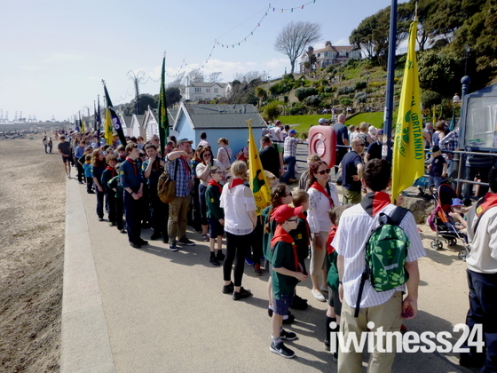 Scouting groups parade in Felixstowe