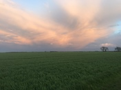 Cloud formations and sunset