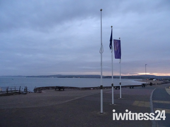 The Exmouth beaches after dusk