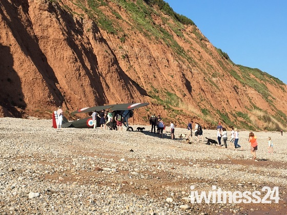 Plane crash lands on West Beach Sidmouth