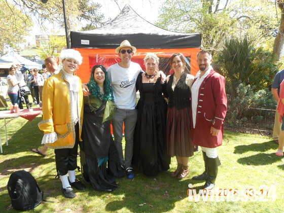 At the Exmouthy Free Festival with the Exmouth Musical Theatre Company people