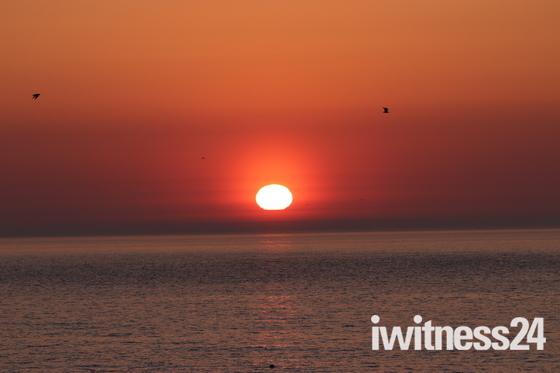 Rising sun , Ness Point Lowestoft 5.30 am 6th may.