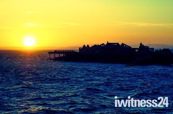Birnbeck at sunset